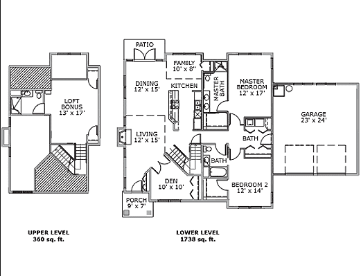 The Cedar - 2 Bedroom Cottages Independent Living Floor Plan