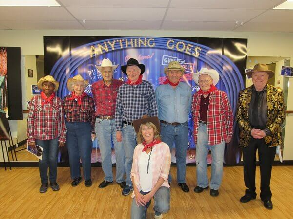 Village Green residents lined up in rodeo outfits after square dancing (1)