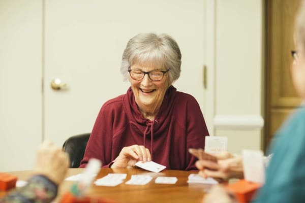 Residents at Village Green Retirement Campus Participating in a Community Activity-1